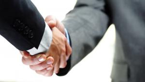 business handshake image