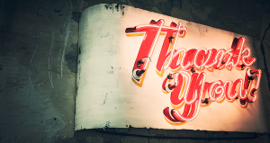 thank you page header